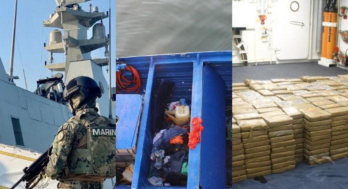 Marina aseguran a siete con mil paquetes de cocaína; iban en una embarcación a velocidad inusual