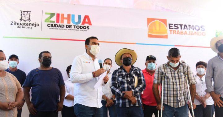 La comunidad El Calabazalito tendrá una cancha de usos múltiples totalmente rehabilitada