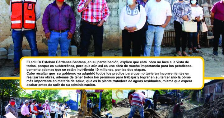 Más obras de impacto en Petatlán por Esteban Cárdenas Santana