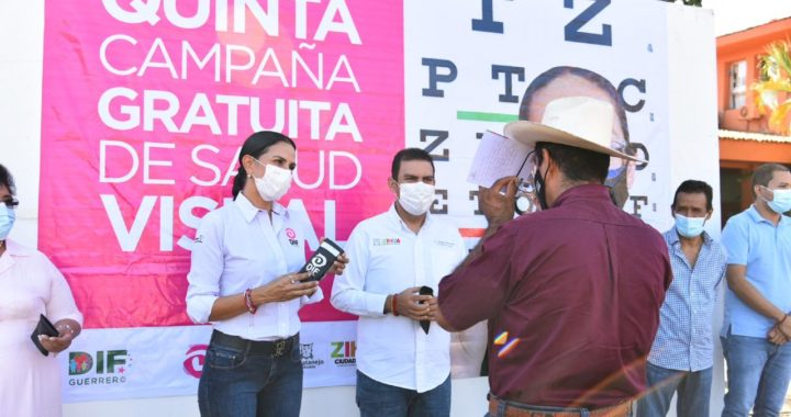 350 personas se benefician con campaña de Salud Visual gratuita por parte de presidente Jorge Sánchez Allec