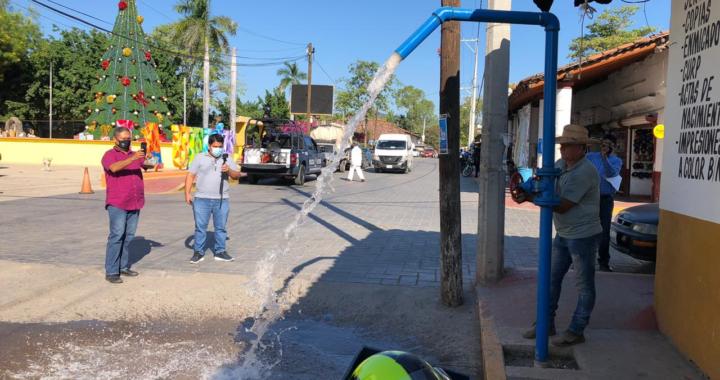 En breve inicia introducción de red de agua potable en crucero de La Unión