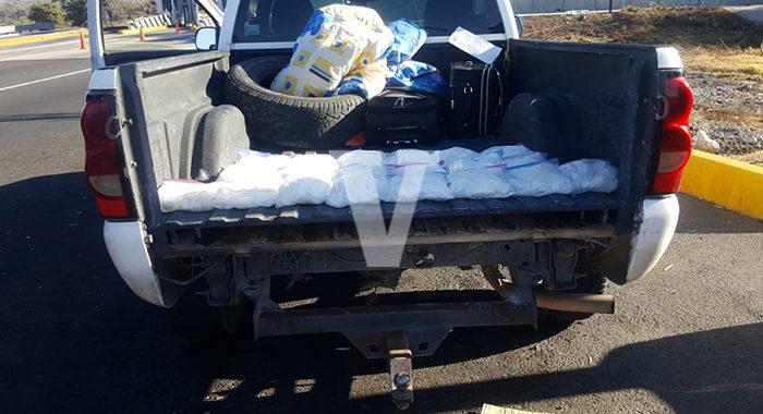 Guardia Nacional asegura millonario cargamento de droga en Morelia