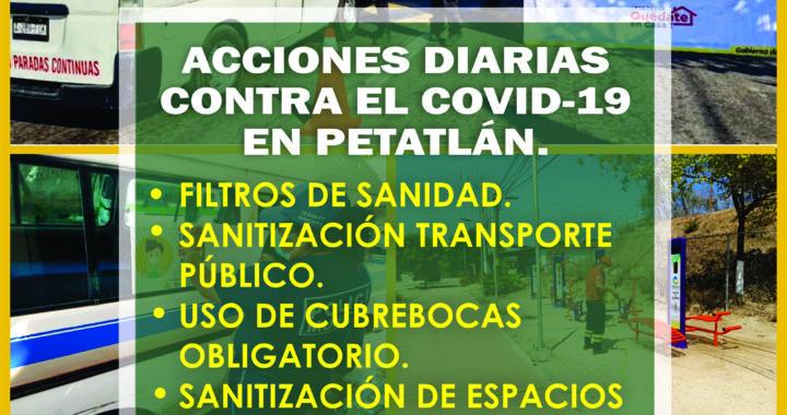 Medidas sanitarias contra el COVID en petatlán