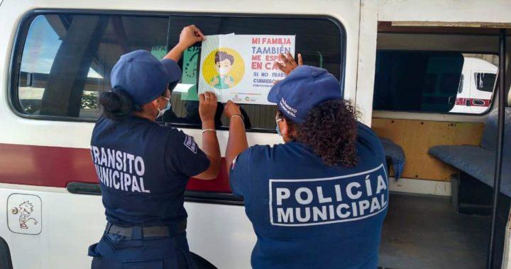 EL GOBIERNO DE PETATLÁN INTENSIFICA MEDIDAS DE SANIDAD EN TRANSPORTE PÚBLICO.