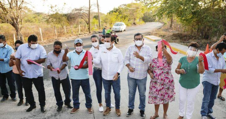 Presidente Jorge Sánchez entrega más de 2 km de pavimentación a El Zarco