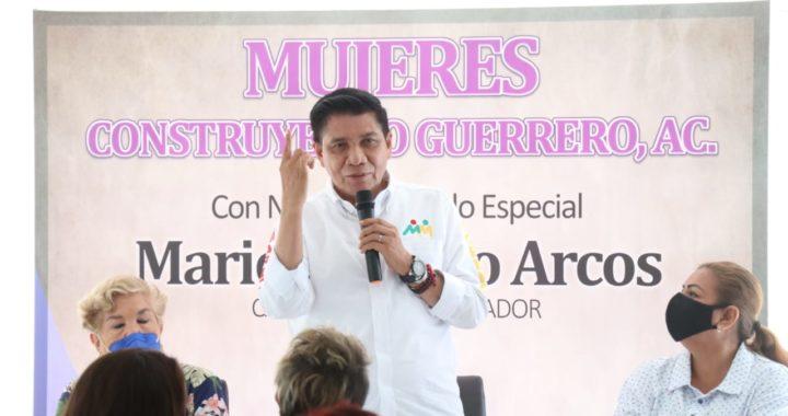 Las mujeres deben ocupar un lugar preponderante en la vida política y social en Guerrero: Mario Moreno