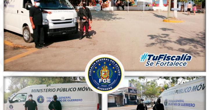 Continúan los recorridos permanentes de los Ministerios Públicos Móviles en las inmediaciones de la zona turística de Ixtapa-Zihuatanejo