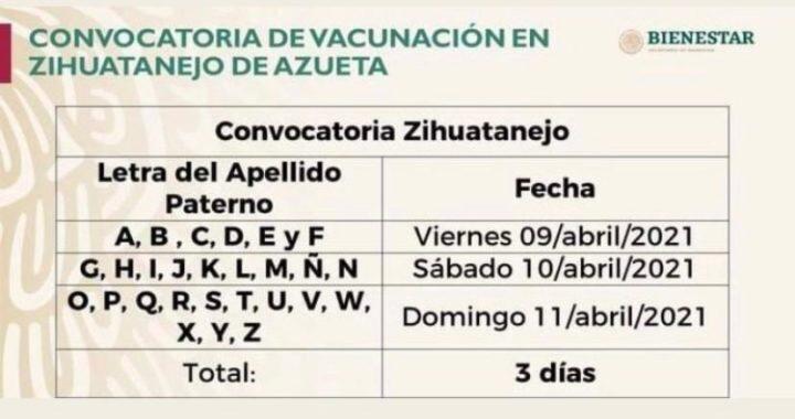 Logística para la vacunación de adultos mayores contra el #COVID19 en el municipio de Zihuatanejo