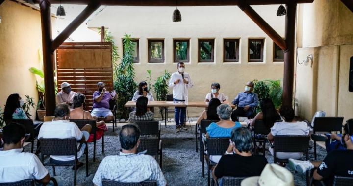 Colonos de La Madera reiteran apoyo a Jorge Sánchez.