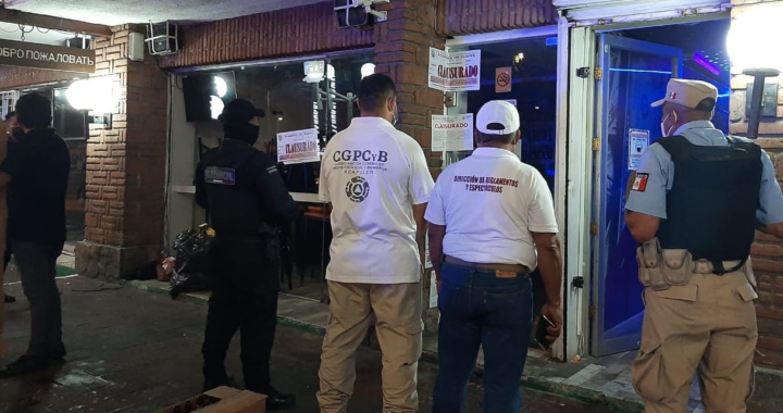 Clausuran cinco bares por incumplimiento de medidas sanitarias*