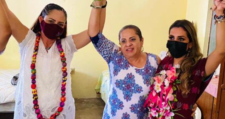 A unos días de consumar el triunfo está la candidata de MORENA Leticia Rodríguez en Petatlán