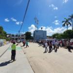 Realizan simulacro de sismo en instalaciones del ayuntamiento de Tecpan