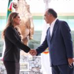 Se reúnen gobernador Héctor Astudillo y gobernadora electa Evelyn Salgado Pineda