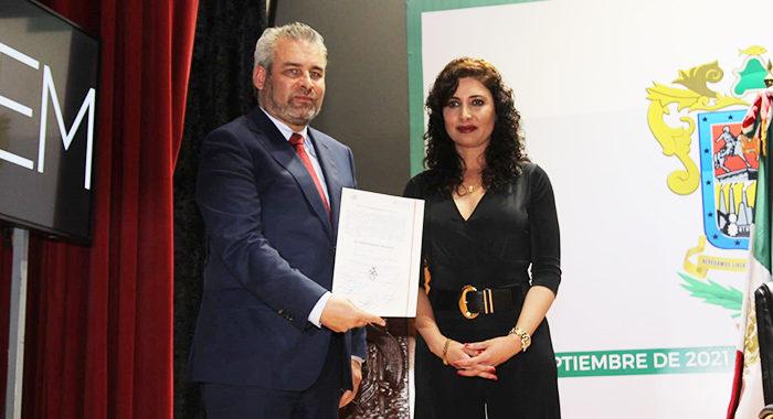 TEEM entrega constancia de gobernador electo a Alfredo Ramírez Bedolla