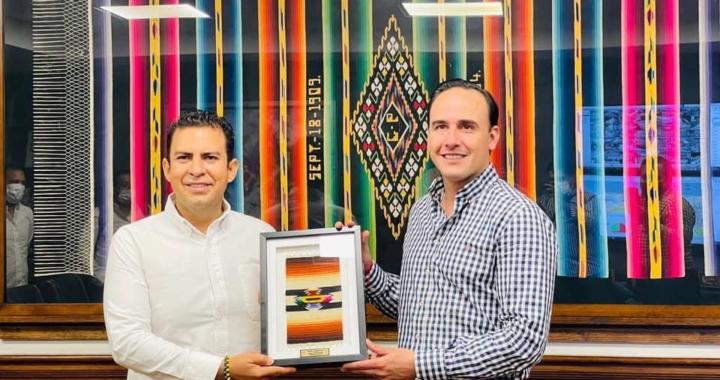 Jorge Sánchez se reúne en Saltillo, Coahuila con su homólogo Manolo Jiménez Salinas